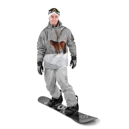 Накидка на куртку 3D  Фото 03, Лошадка в зимнем лесу