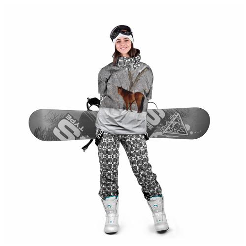 Накидка на куртку 3D  Фото 05, Лошадка в зимнем лесу