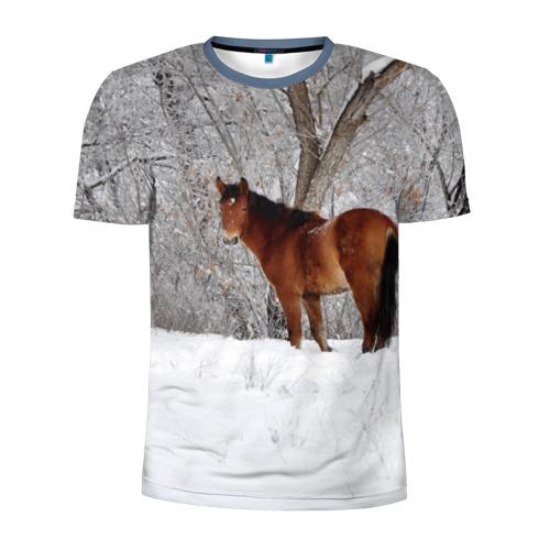 Лошадка в зимнем лесу