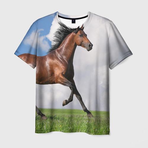 Мужская футболка 3D Жеребец
