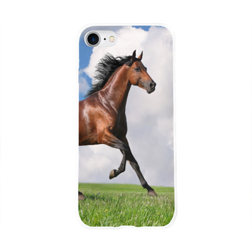 Чехол для Apple iPhone 8 силиконовый глянцевый Жеребец