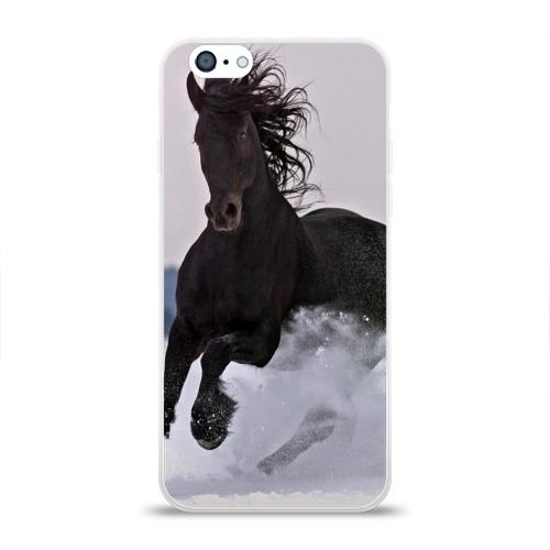 Чехол для Apple iPhone 6 силиконовый глянцевый  Фото 01, Грациозный конь