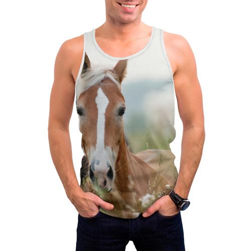 Мужская майка 3D  Фото 03, Лошадь