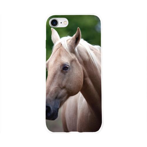 Чехол для Apple iPhone 8 силиконовый глянцевый  Фото 01, Лошадь