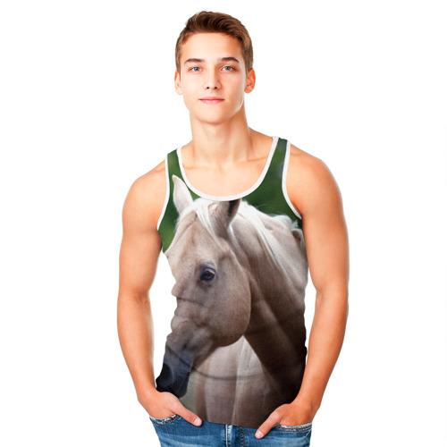 Мужская майка 3D  Фото 05, Лошадь