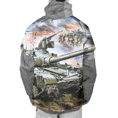 Накидка на куртку 3D  Фото 02, Танковый бой