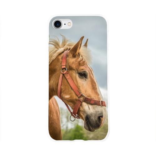 Чехол для Apple iPhone 8 силиконовый глянцевый  Фото 01, Лошадка