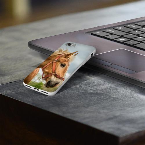 Чехол для Apple iPhone 8 силиконовый глянцевый  Фото 03, Лошадка