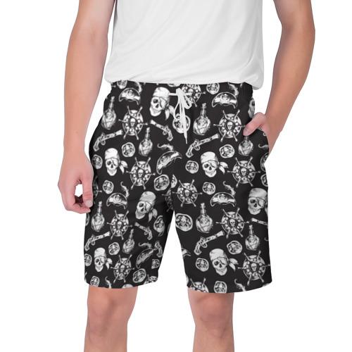 Мужские шорты 3D  Фото 01, Пиратский узор