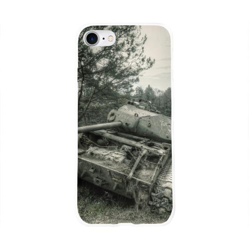 Чехол для Apple iPhone 8 силиконовый глянцевый  Фото 01, Тигр