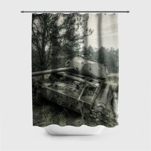 Штора 3D для ванной  Фото 01, Тигр