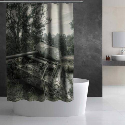 Штора 3D для ванной  Фото 03, Тигр