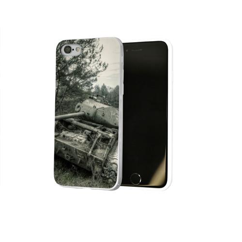Чехол для Apple iPhone 8 силиконовый глянцевый  Фото 02, Тигр