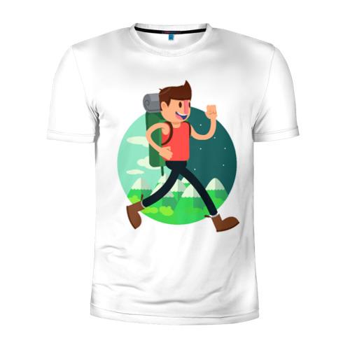 Мужская футболка 3D спортивная  Фото 01, Турист