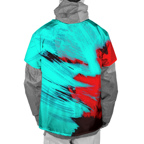 Накидка на куртку 3D  Фото 02, Неоновая абстракция