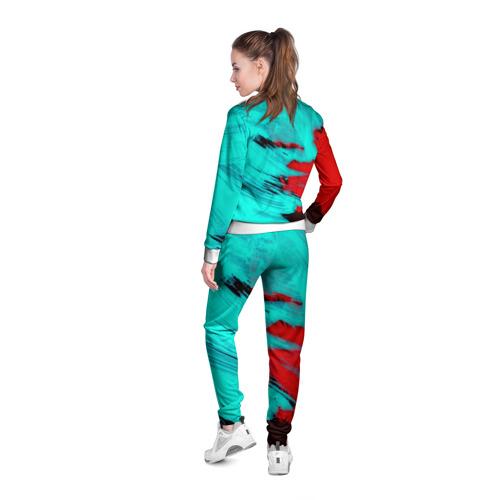 Женская олимпийка 3D  Фото 04, Неоновая абстракция