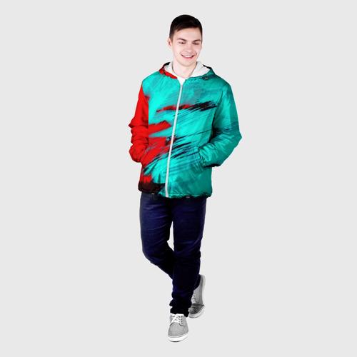 Мужская куртка 3D  Фото 03, Неоновая абстракция