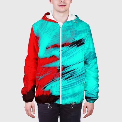 Мужская куртка 3D  Фото 04, Неоновая абстракция