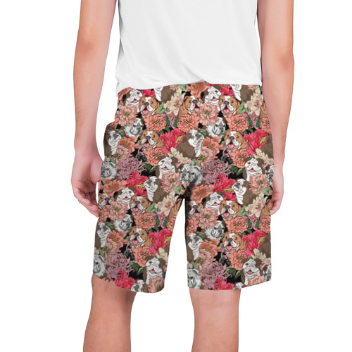 Мужские шорты 3D  Фото 02, Dogs and flowers