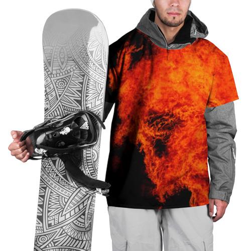 Накидка на куртку 3D  Фото 01, Огонь
