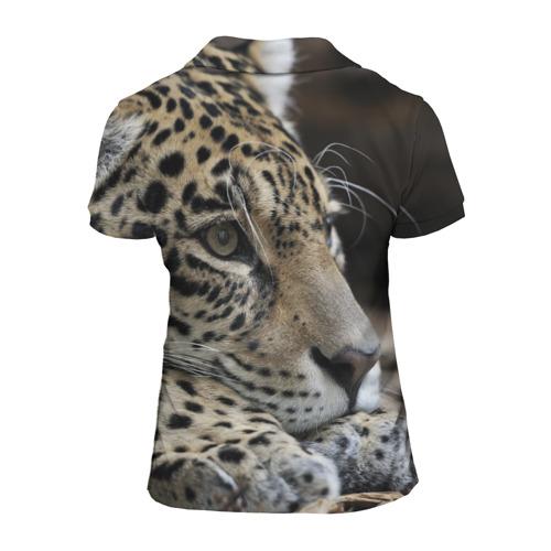 Женская рубашка поло 3D Леопард Фото 01