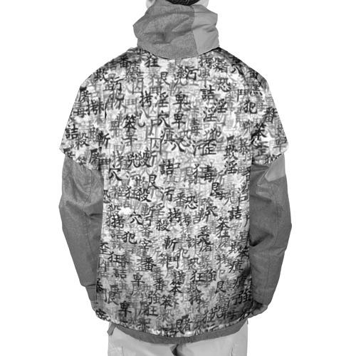 Накидка на куртку 3D  Фото 02, Японские иероглифы