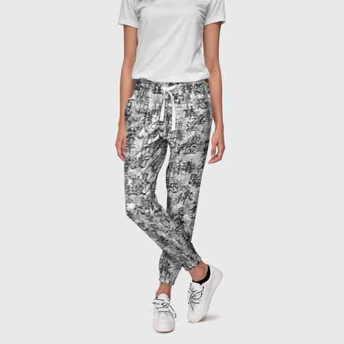 Женские брюки 3D Японские иероглифы