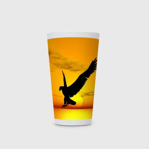 Кружка Латте  Фото 03, Орел на закате