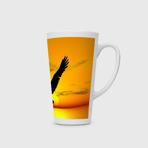 Кружка Латте  Фото 02, Орел на закате