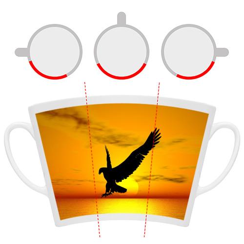 Кружка Латте  Фото 06, Орел на закате