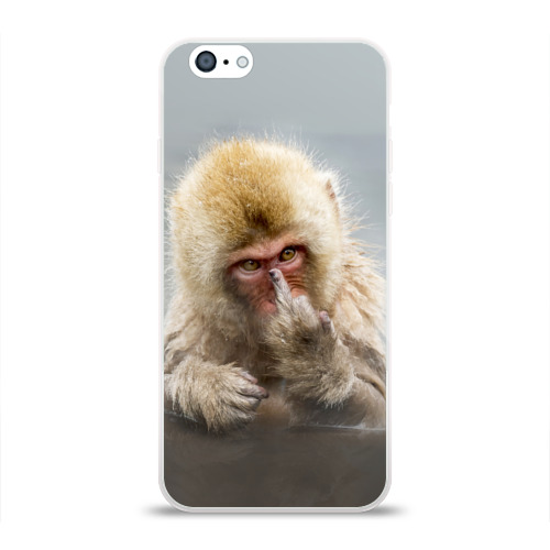 Чехол для Apple iPhone 6 силиконовый глянцевый  Фото 01, Японская макака