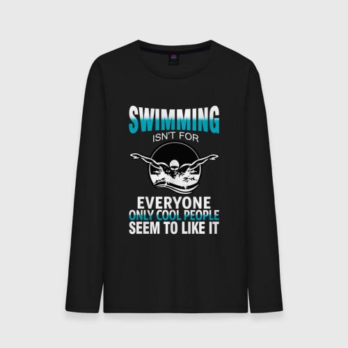 Мужской лонгслив хлопок  Фото 01, Swimming