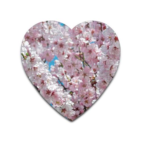 Пазл сердце 75 элементов  Фото 01, Цветы