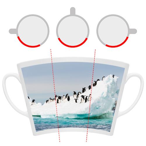 Кружка Латте  Фото 06, Пингвины на айсберге