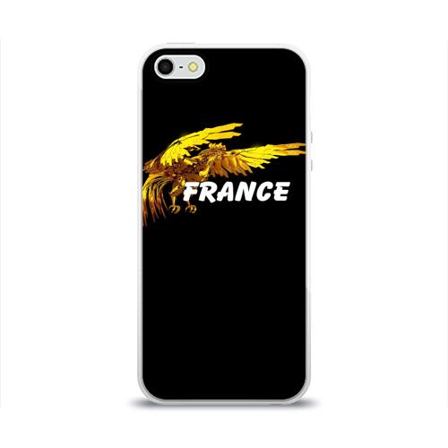 Чехол для Apple iPhone 5/5S силиконовый глянцевый  Фото 01, Франция