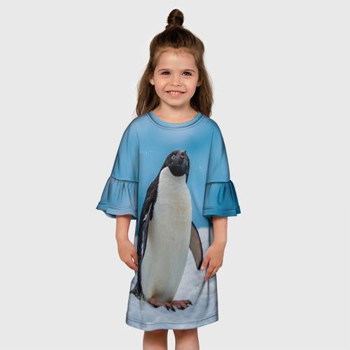 Детское платье 3D  Фото 01, Пингвин на айсберге