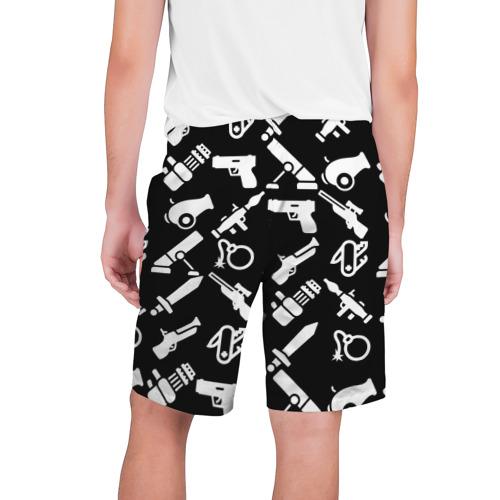 Мужские шорты 3D  Фото 02, Оружие черный микс