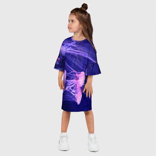 Детское платье 3D  Фото 03, Розовые медузы
