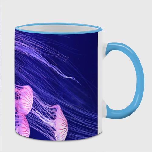 Кружка с полной запечаткой  Фото 02, Розовые медузы