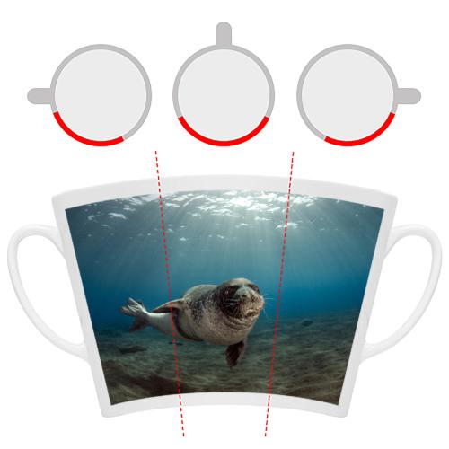 Кружка Латте  Фото 06, Тюлень под водой