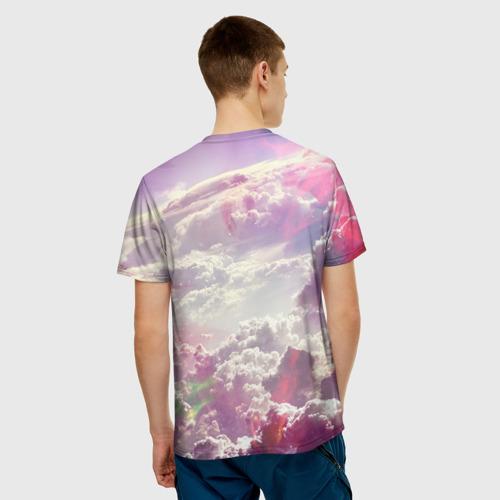 Мужская футболка 3D  Фото 02, Розовые облака