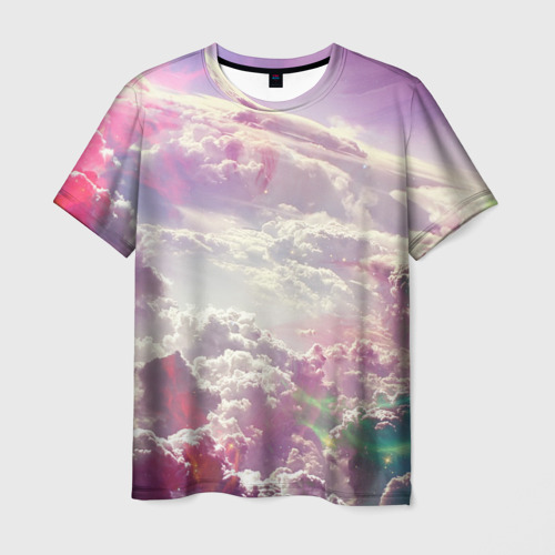 Мужская футболка 3D  Фото 01, Розовые облака