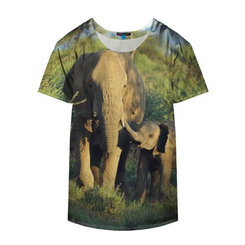 Накидка на куртку 3D  Фото 04, Слониха и слоненок в природе