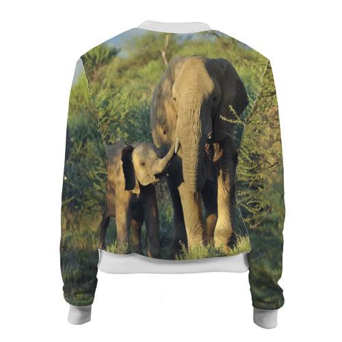 Женский бомбер 3D  Фото 02, Слониха и слоненок в природе