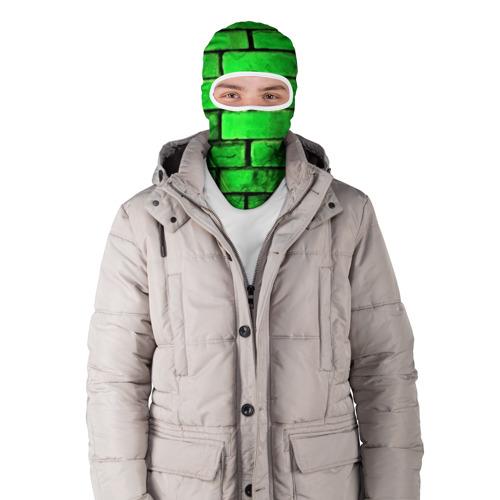 Балаклава 3D  Фото 03, Зелёные кирпичики