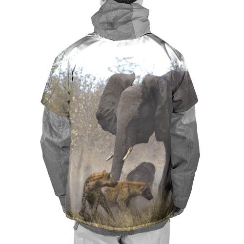Накидка на куртку 3D  Фото 02, Гиены охотятся на слона