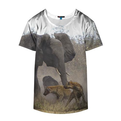 Накидка на куртку 3D  Фото 04, Гиены охотятся на слона