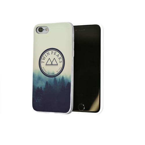 Чехол для Apple iPhone 8 силиконовый глянцевый  Фото 02, Twin Peaks