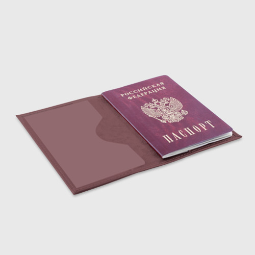 Обложка для паспорта матовая кожа Программа Фото 01