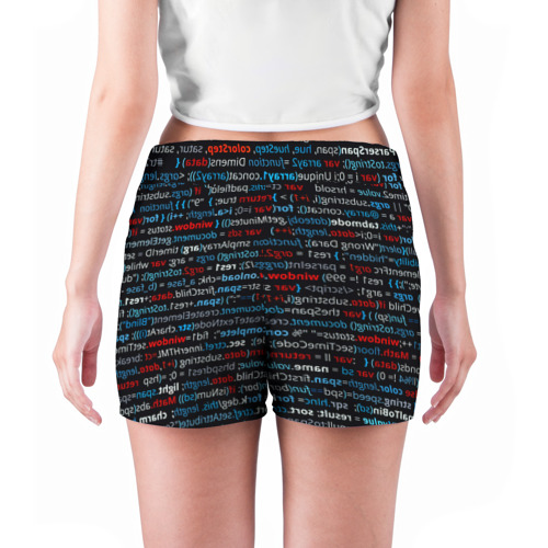Женские шорты 3D  Фото 04, computer code